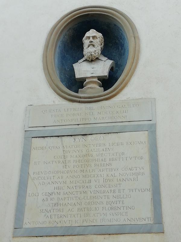 Emléktábla Galilei házán