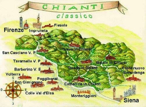 Chianti térképe